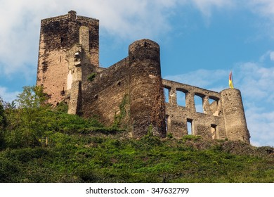 The Mitternich castle on the top of the mountain, Beilstein,  Rhineland-Palatinate, Germany