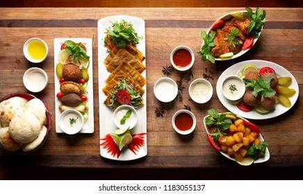 Mix Arabic Food in restaurant