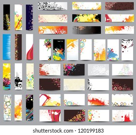 Mix collection banners and business cards. Raster version