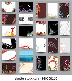 Mix Collection vertical and horizontal posters.  Raster version