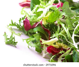 A mix of crisp and sweet lettuce leaves