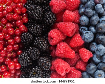 Mix of different berries