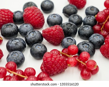 Mix of fresh organic summer berries