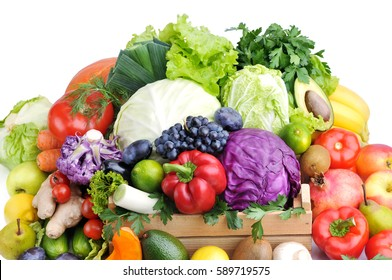 Mix of fresh vegetables.Concept of healthy eating.