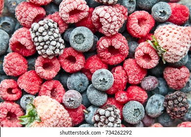 Mix frozen berries background. Frozen berries.