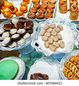Mix of handmade biscuits and sweets in Bern, Switzerland