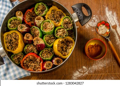 Mix mahshy, It is called mahshy in Arabic wish means stuffed. This is a pot full with stuffed vegetables with special rice.