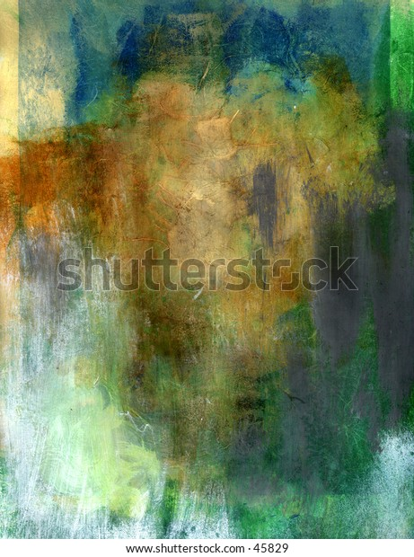 A mix media painting in earth tones. Works as for montage either as full color or reduced to grey scale. Can be cropped into blocks for design elements.