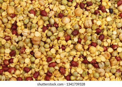 Mix, Mixture, peanut, nuts, daal, pulses, spicy Indian traditional snacks - namkeen