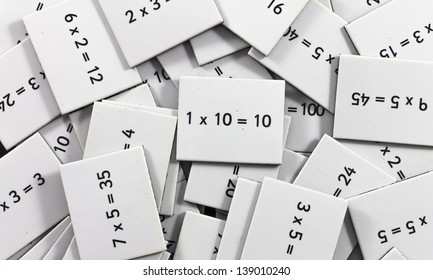 Mix of Multiplication table cards