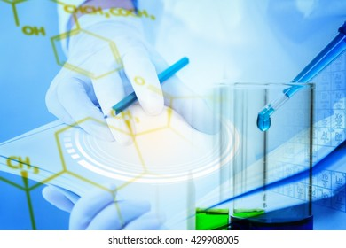 Mix the science test tube science research papers to be used in the design or decoration on the topic of science or use it for background.
