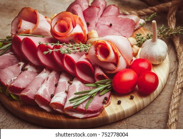 Mix of sliced meat