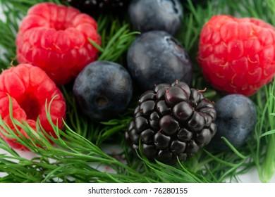 Mix of soft fruit