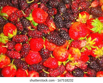 Mix of strawberry and mulberry. Summer freshness.