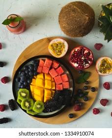 mix summer fruits platters