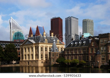 Mix Traditional Modern Architecture Hague The Stock Photo Edit Now