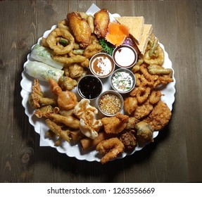 Mixed of appetizers sampler