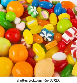 Mixed candy background
