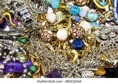 Mixed Collection of Jewelry Background Image