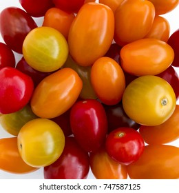 Mixed colour baby tomatoes