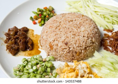 Mixed Cooked Rice with Shrimp paste Sauce