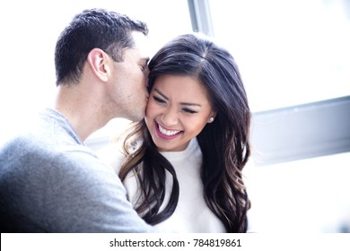 Mixed couple in love