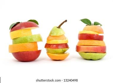 mixed creative fruit studio isolated