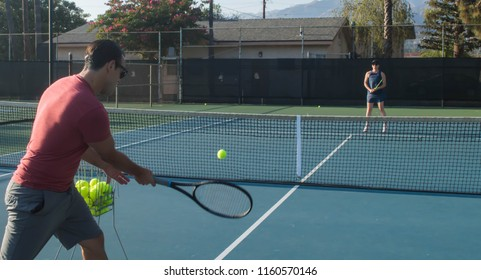 Mixed doubles tennis lessons