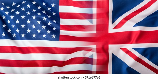 Mixed Flags of the USA and the UK.