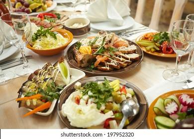 mixed food