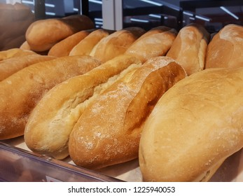 Mixed fresh bread background close-up