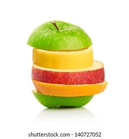 Mixed Fruit isolated on white background