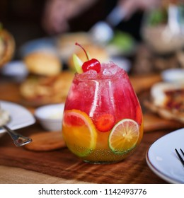 mixed fruit mocktail