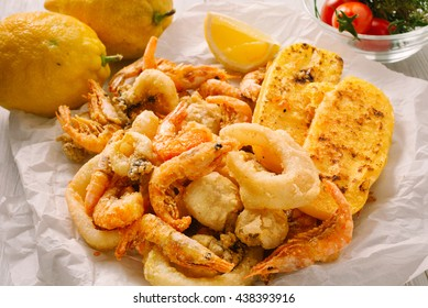 Mixed grilled fish