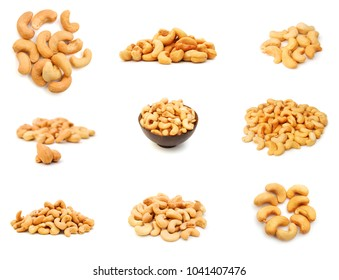 Mixed Nuts on white background