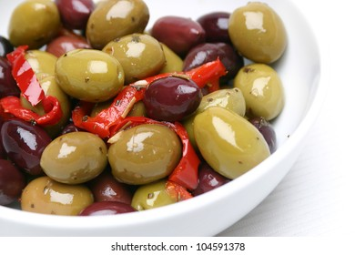 Mixed Olives in a bowl