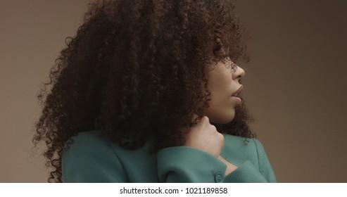 Black White Women Natural Hair Images Stock Photos Vectors Shutterstock