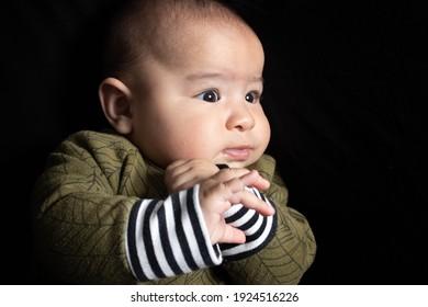 mixed race Japanese baby boy