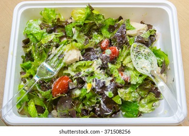 mixed salad in the box