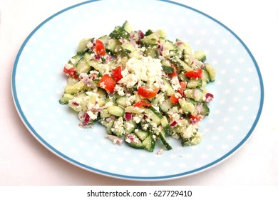 a mixed salad with cheese