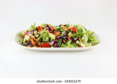 mixed salad isolated