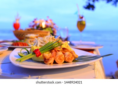 Mixed seafood on the beach
