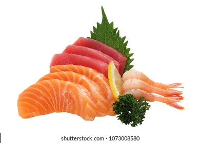 mixed sliced fish sashimi