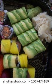 Mixed sushi and sashimi platter