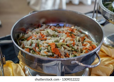 Mixed vegetable in a buffet setup