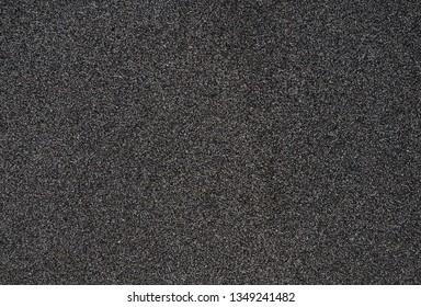 Mixed volcanic basalt lava sand, big grains, mostly black basalt, salt and pepper look.