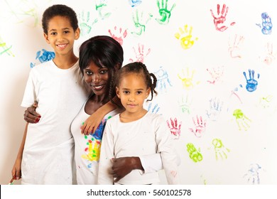 Mixed-race Family Painting
