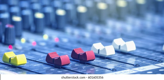 Mixer in the control room.