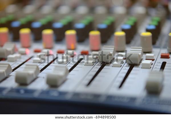 Mixer Radio Broadcast Room Stock Photo (Edit Now) 694898500