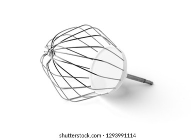 Mixer whisk for food processor isolated on white background.